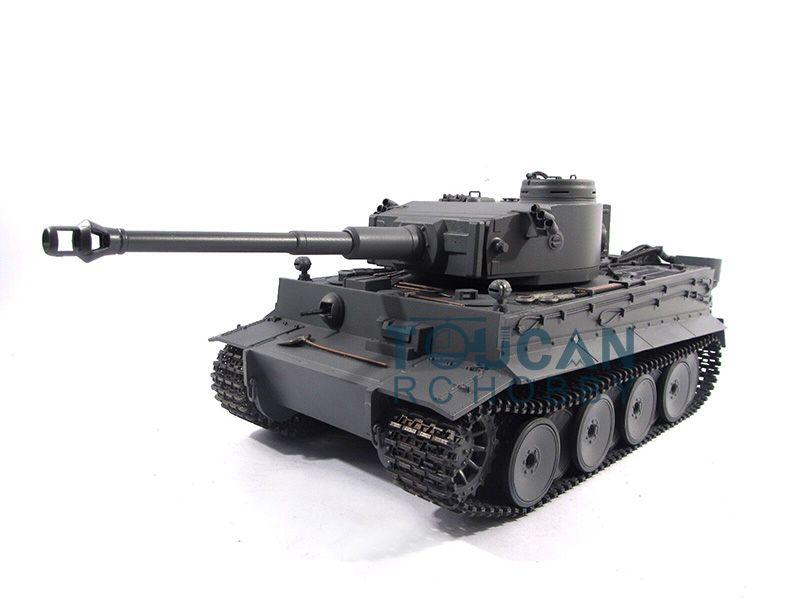 100% metall Mato 1/16 Tiger I RC RTR Tank Fotomodell Pellets Grau Farbe 1220