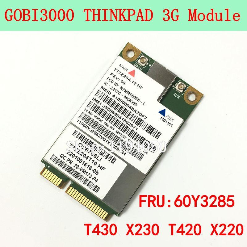 Sierra MC8355 GOBI3000 GPS 3G HSPA EVDO WWAN Wireless Card for Lenovo Thinkpad X220 T420 T520 X230 T430 T530 W520 W530 60Y3257