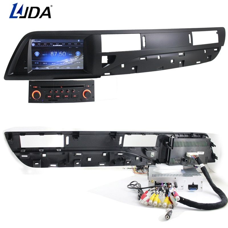 LJDA 1 din 7 Inch Android 6.0 Car DVD Player For Citroen C5 Auto Radio Audio RDS Bluetooth Canbus Map GPS Navigation Quad Cores