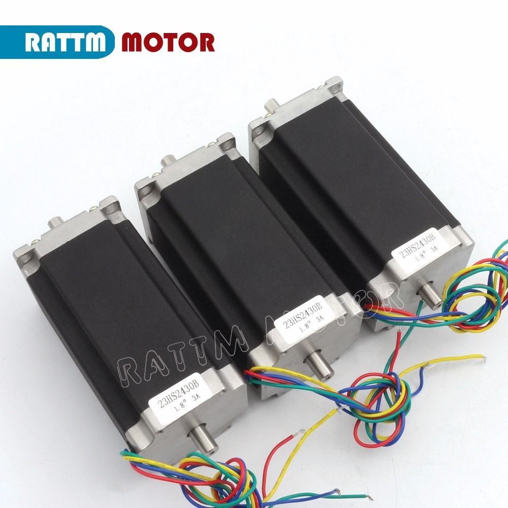 3 pcs NEMA23 425 Oz-in CNC Dual shaft stepper motor stepping motor/3.0A