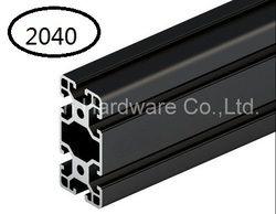 Noir En Aluminium Profil Aluminium Extrusion Profil 2040 20*40 couramment utilisé dans le montage cadre du dispositif, table et présentoir