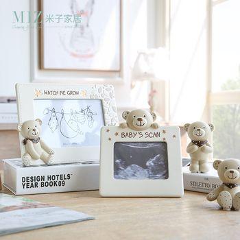 Zim Maison 1 Pièce Bébé Cadre Photo Multi-taille Cadre Photo Belle Ours Figure Cadre Photo pour Enfants Maison décoration