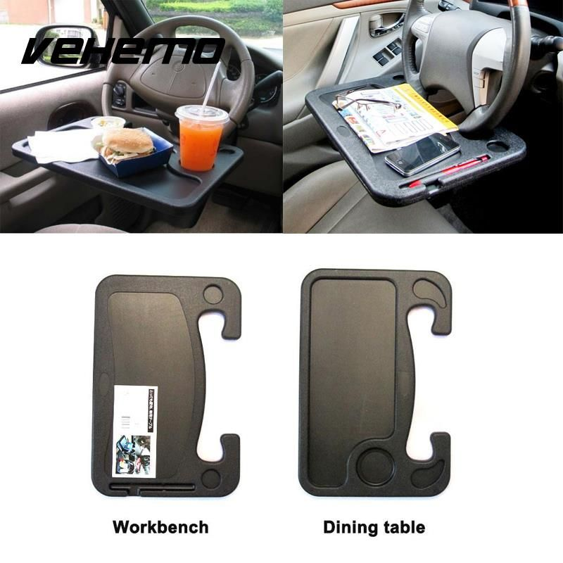 Vehemo Car Laptop Stand Notebook Desk Steering Tray Table Food/drink Holder Car