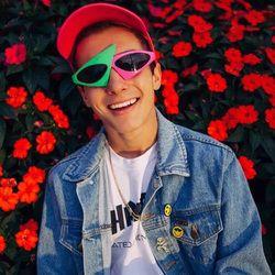 Roy Purdy Gaya Panggul-Hop Asimetris Segitiga Kacamata Hitam Kebaruan Hijau Merah Muda Warna Kontras Kacamata Pesta Persediaan Dekorasi