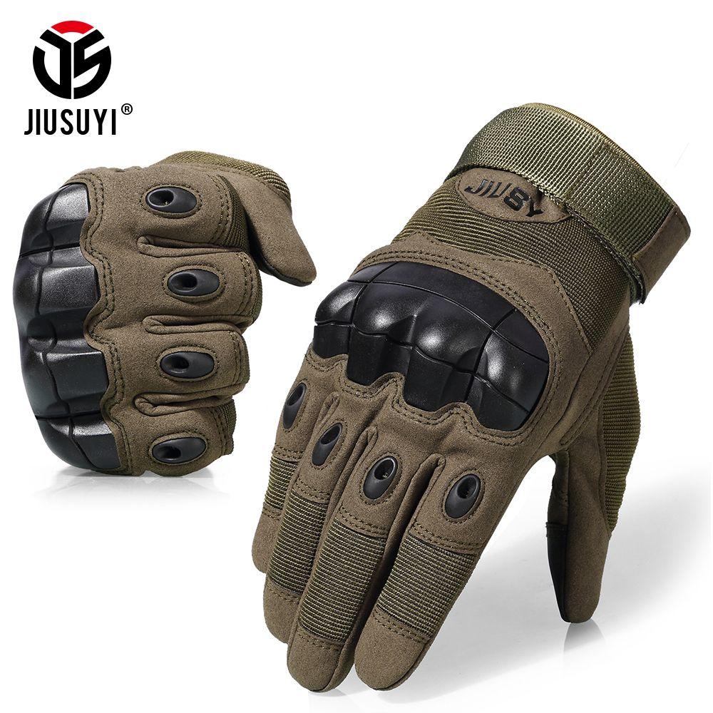 Écran tactile gants tactiques armée militaire Paintball tir Airsoft Combat anti-dérapant caoutchouc dur Knuckle complet doigt gants