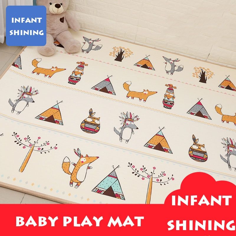 Infant Shining Baby Play Mat XPE Carpet Thickening Toy Crawling Puzzle Mat 200*180*2CM Kids Mat For Infants Play Mat Gym