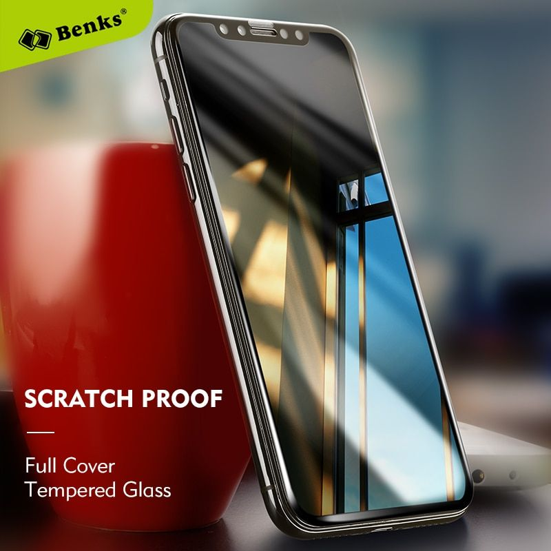 Benks Screen Protector Phone Glass For iPhone X 3D Curved Edge Protective Film 0.3mm For iPhone X Tempered Glass Protection Film