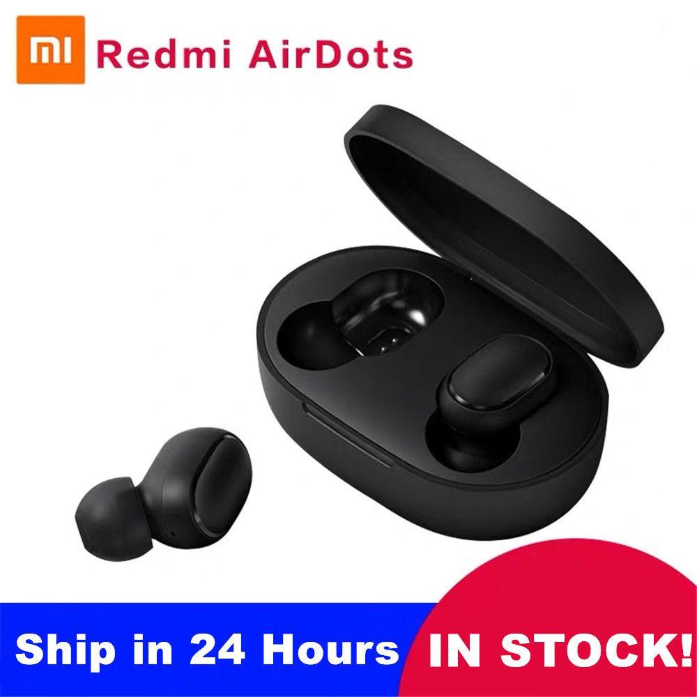 Xiao mi rouge mi Airdots TWS mi vrai sans fil Bluetooth écouteurs stéréo basse Bluetooth 5.0 avec mi c mains libres écouteurs AI contrôle