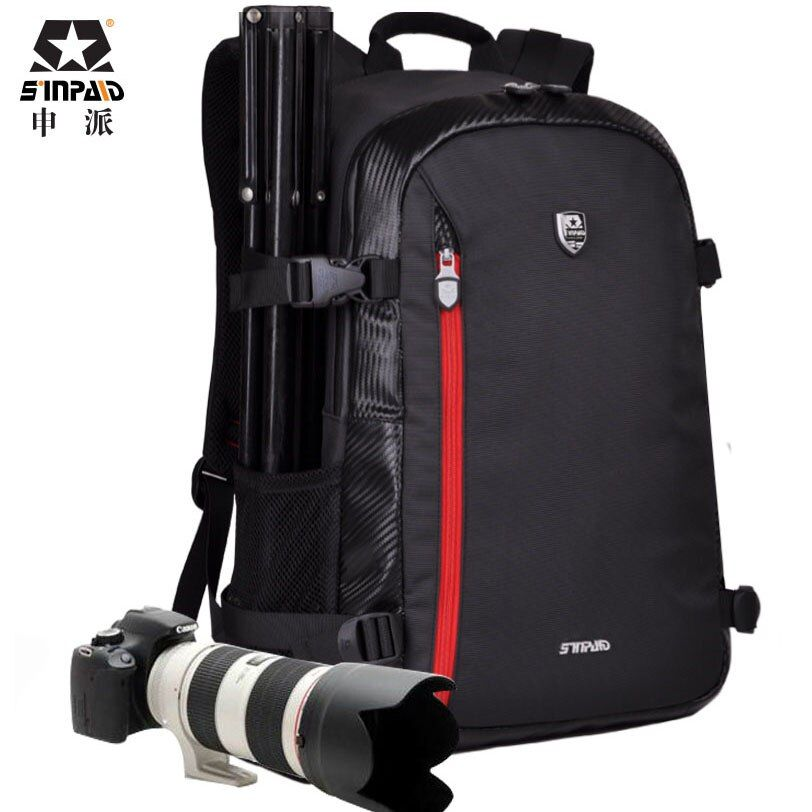 Grand sac DSLR sac à dos sac à bandoulière pour Nikon Canon Sony Fujifilm appareils photo numériques