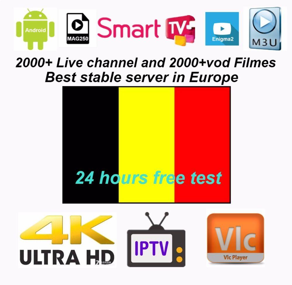 Belgium IPTV Europe IPTV French IPTV 2000+ live Free VOD Support Android m3u enigma2 mag250 TVIP 2000+Vod supported