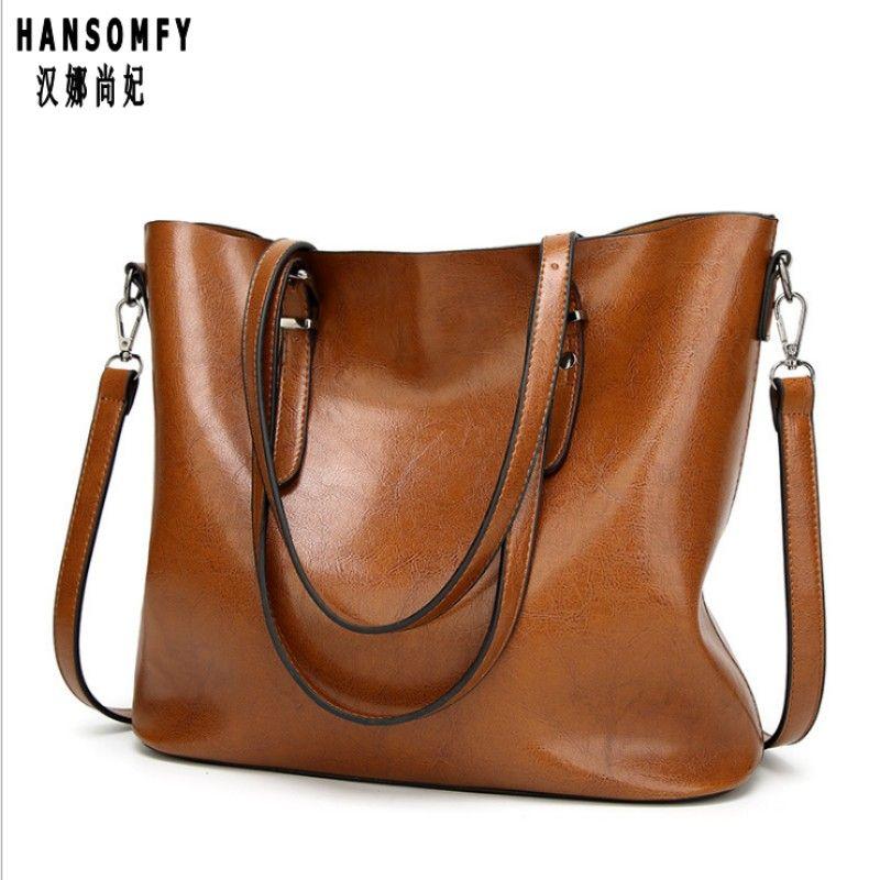100% Genuine leather Women handbags 2018 New handbags Europe and the United States simple shoulder Messenger handbags