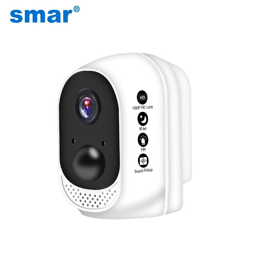 Smar 1080P HD Wireless WiFi Camera Built-in 10400mAh Lithium Polymer Battery Outdoor Indoor Security IP Cam PIR Motion Detector