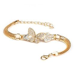 QCOOLJLY Female Jewellry Accessories Multi-Designs Gold Color Alloy Crystal & Rhinestone Flash Cuff Chain wrap bracelet Bangle