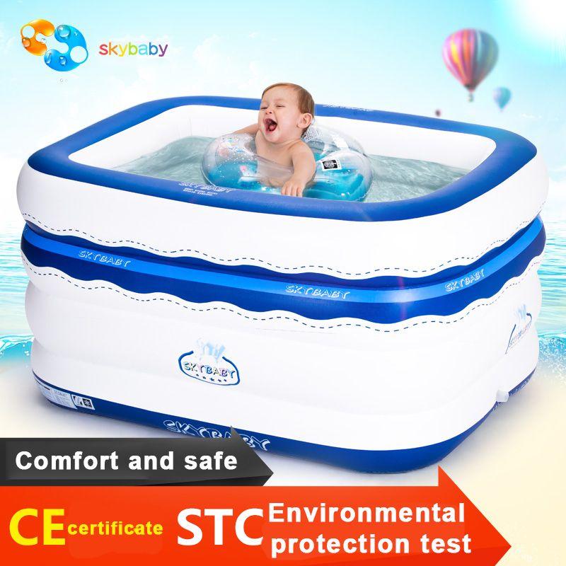 Sallei carré gonflable bébé piscine bébé épaississement seau de natation infantile charrues océan piscine à balles