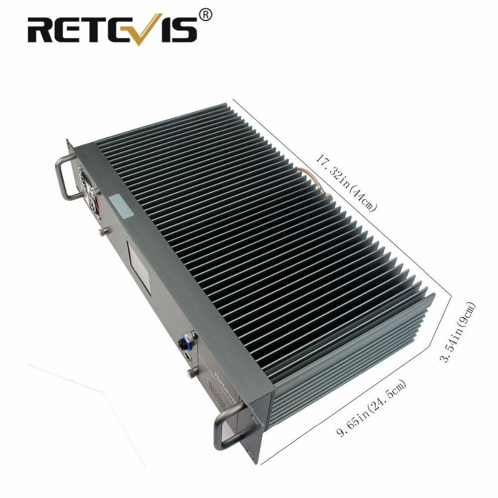 Neue All-aluminium-legierung Retevis RT-9550 DMR Digital/Analog Repeater 55 Watt UHF TDMA 2 Zeit Slots LCD Display A9116B