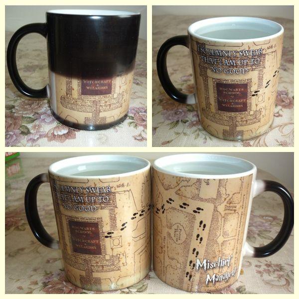 Tasse magique boisson chaude tasse changement de couleur Harry Marauders carte méfait géré vin thé tasse cadeau créatif livraison directe