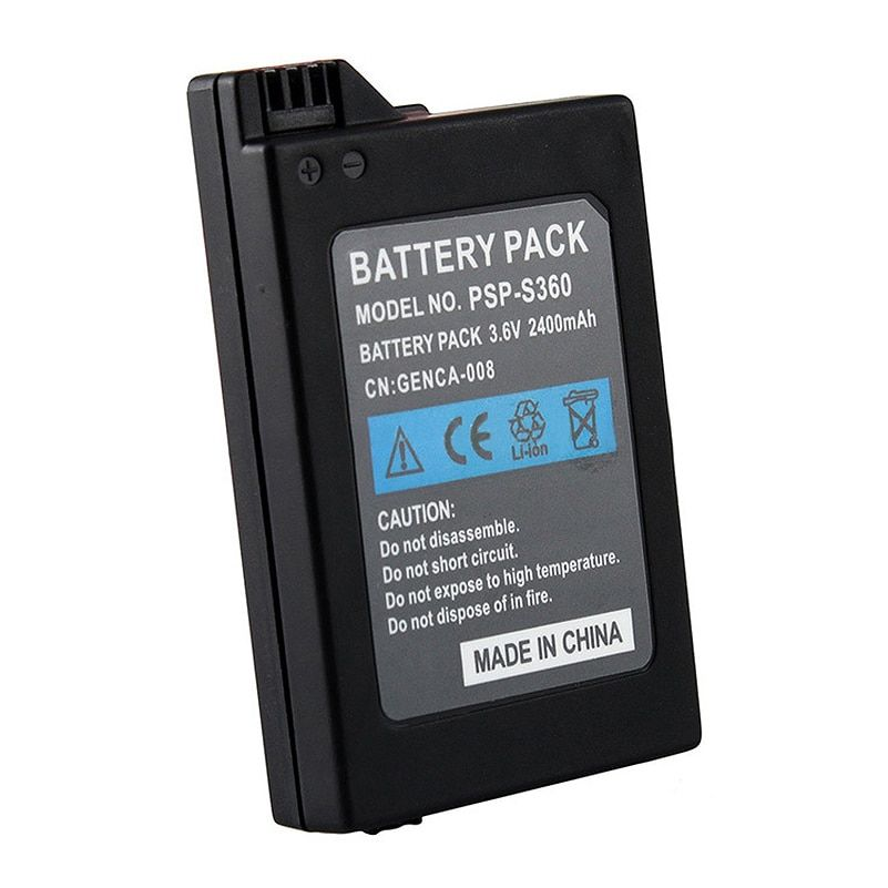 Battery for Sony PSP2000 PSP3000 PSP 2000 PSP 3000 Gamepad for PlayStation Portable Controller 2400mAh New Replacment Batteries