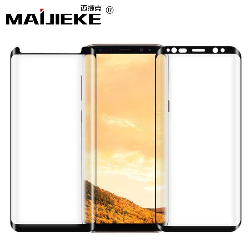 MAIJIEKE Volle Kleber Für Samsung Galaxy Note 9 Gehärtetem Glas für Samsung Galaxy S8 S9 Plus Hinweis 8 Glas Telefon screen Protector