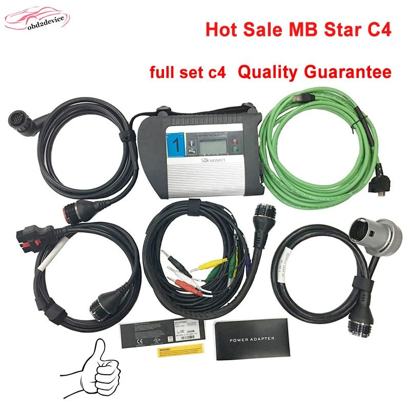 High Performance tool MB Star C4 Full Set auto scanner mb star c4 xentry+das SD Connect c4 for Car diagnostics DHL free