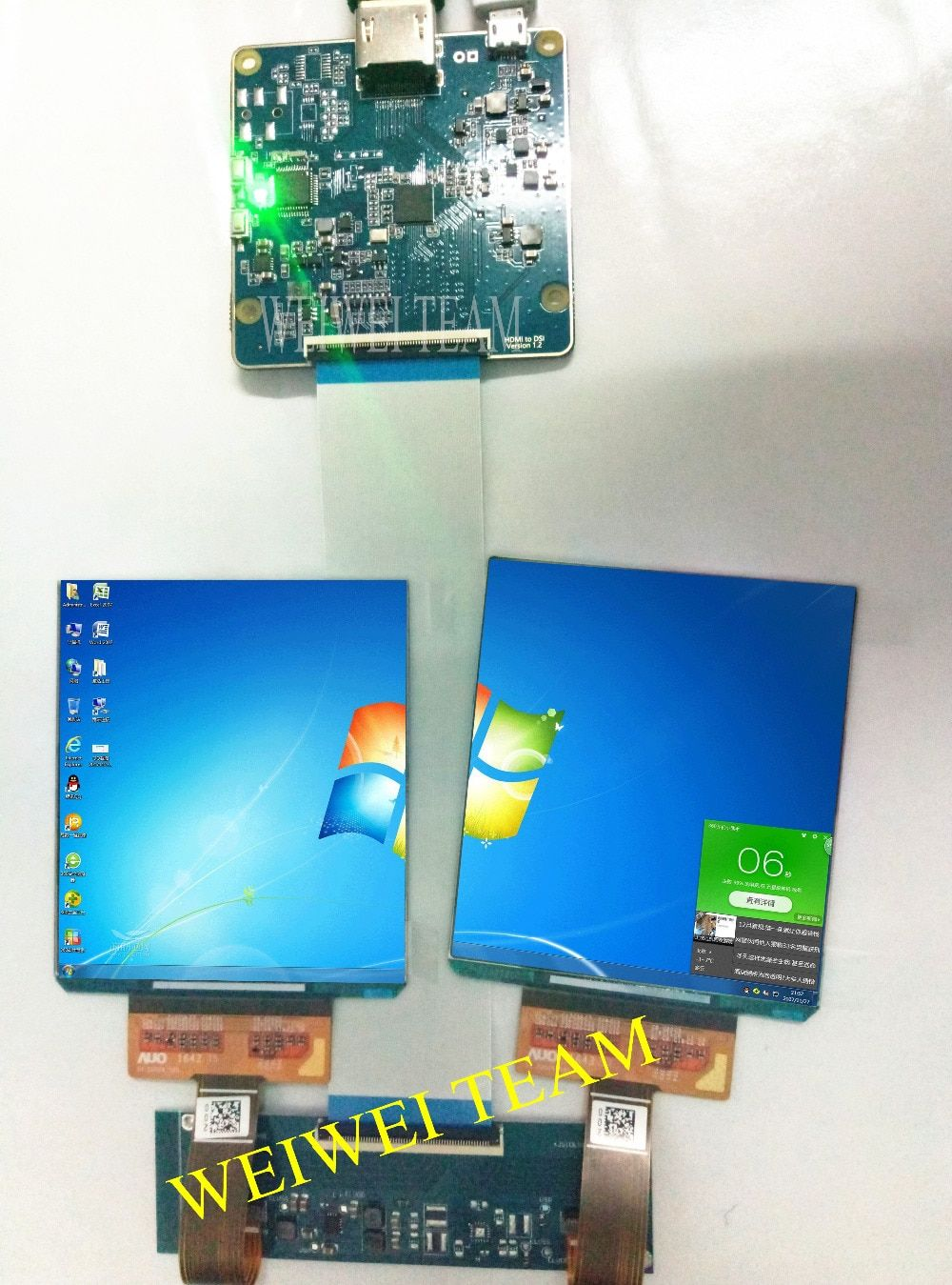 Dual display mit 90 hz 3,81 zoll AMOLED OLED display mit 1080*1200 auflösung für DIY VR projektor/ vr gläser/vr headset/HMD