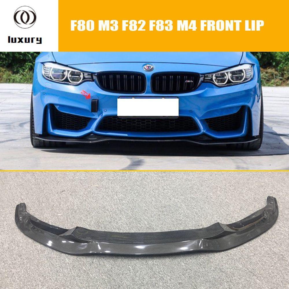 F80 F82 F83 PSM Styling Kohlefaser Frontlippe für BMW F80 F82 F83 M3 M4 2012-2018 Auto Racing Auto Vorderen stoßfänger Lippe