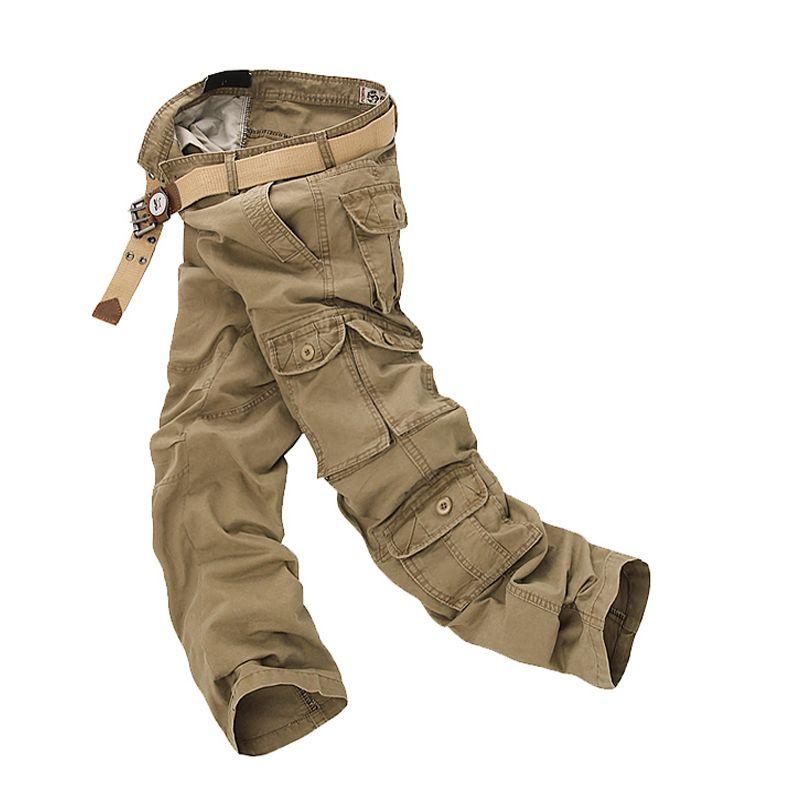 2019 militaire Cargo pantalon hommes lâche Baggy tactique pantalon Oustdoor décontracté coton armée Cargo pantalon hommes Multi poches grande taille