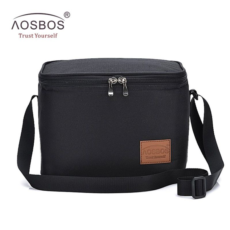 Aosbos Portable Thermal Lunch Bags for Women Kids Men Multifunction Food Picnic Cooler Box Insulated Tote Bag Storage Container