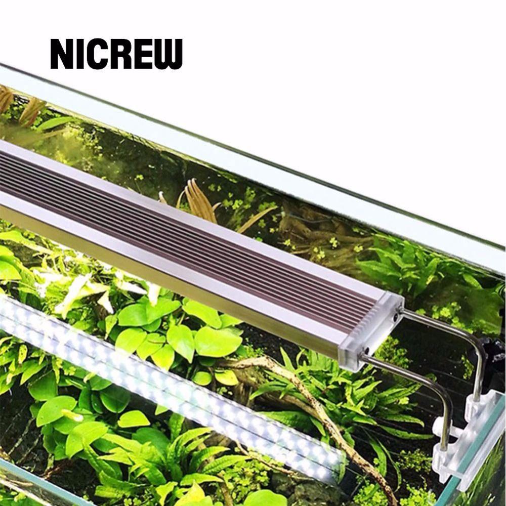 Nicrew SUNSUN ADE Aquatic Plant SMD LED Lighting <font><b>Aquarium</b></font> Chihiros 220V 12W 14W 18W 24W Ultra thin Aluminum Alloy For Fish Tank