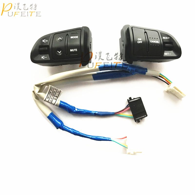 High Quality Multi function Steering Wheel Audio Cruise Control Buttons For Kia sportage with back light Car charge