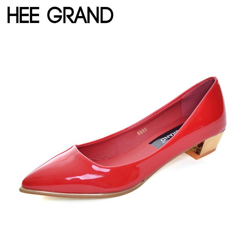 HEE GRAN Elegante Oro Plata Tacones Altos Verano 2017 Bombas de Punta estrecha Zapatos de Boda de Cuero Patend Mujer 5 Colores XWD2675