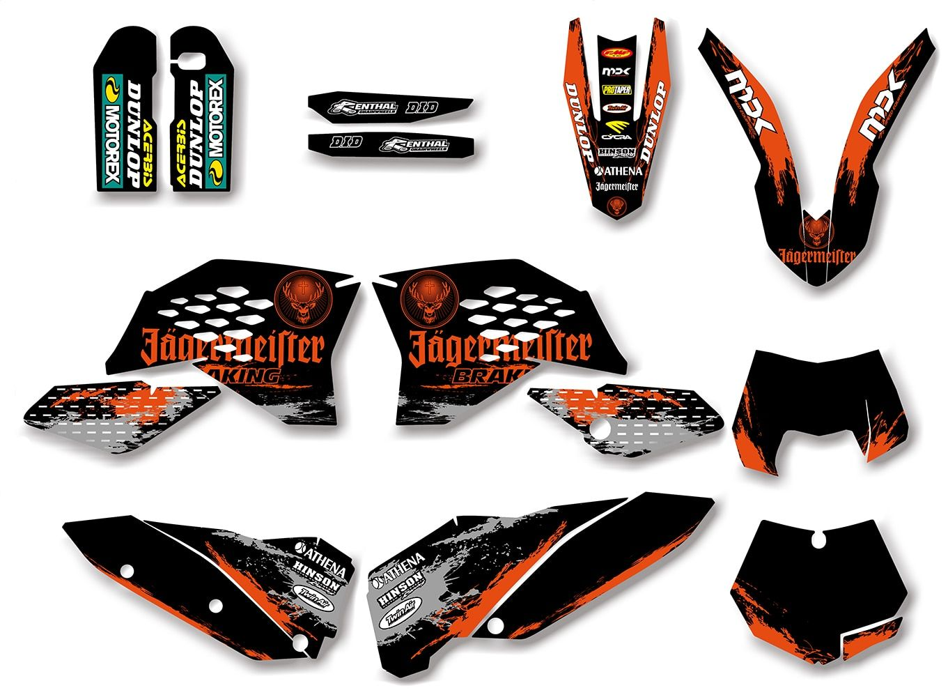Motorctcle Graphic Decal Sticker For KTM 125 200 250 300 350 450 525 SX SXF 2007-2011 EXC XCF XC-F 2008 2009 2010 2011