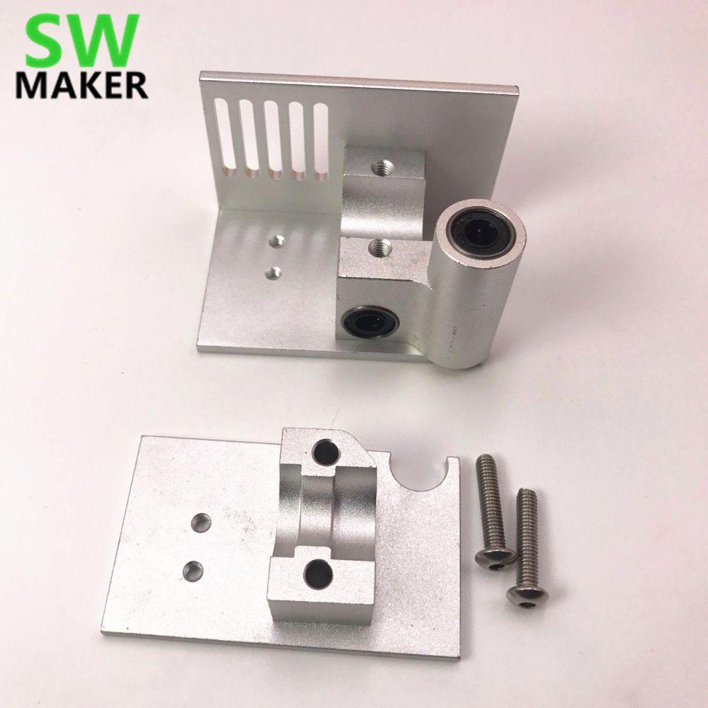SWMAKER DIY Ultimaker 2 Erweiterte UM2 Montieren V6 Benutzerdefinierte metall halterung aluminiumlegierung Silber