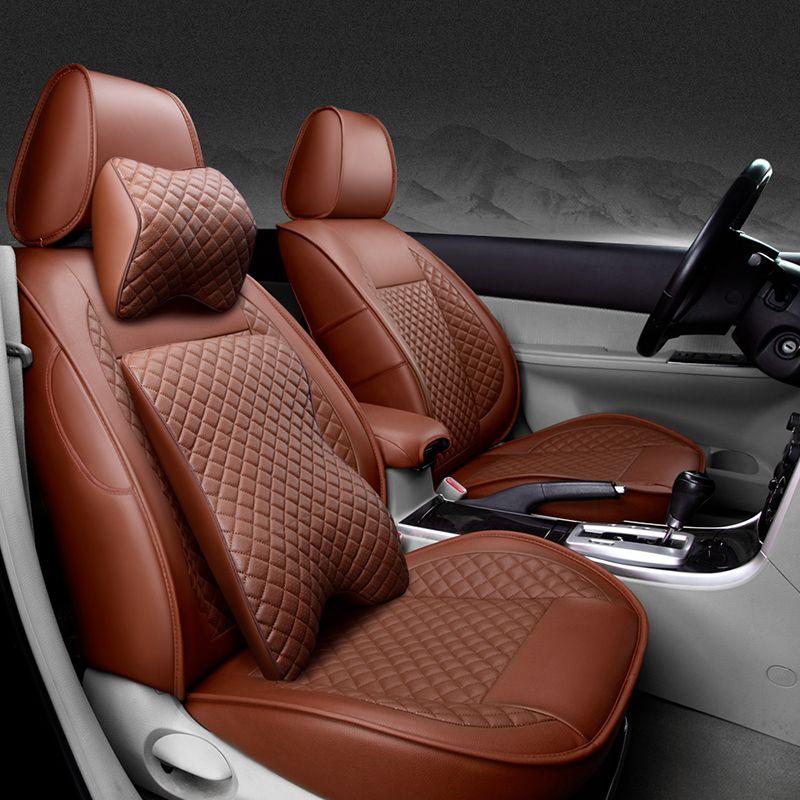 (Avant + arrière) housses de siège de voiture en cuir spécial pour Volkswagen vw passat polo golf tiguan jetta touareg accessoire de style auto