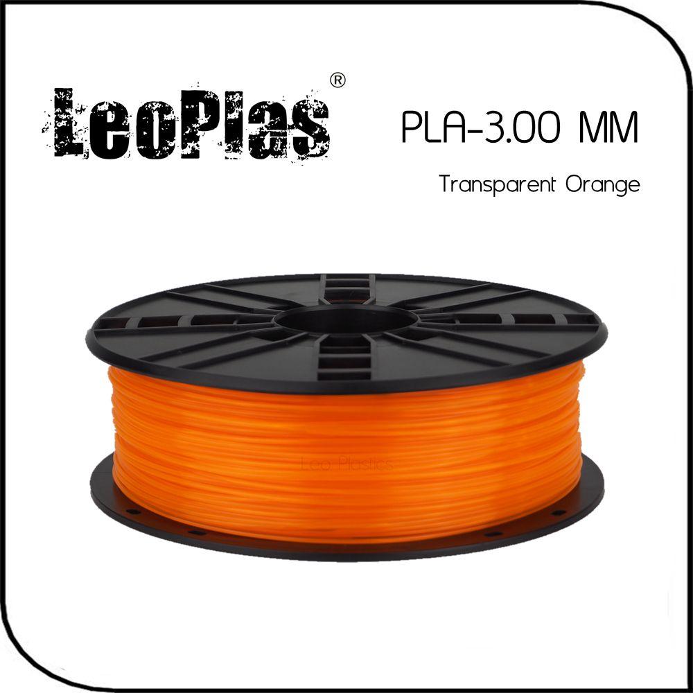 Worldwide Fast Delivery Manufacturer 3D Printer Material 1kg 2.2lb 3mm Transparent Orange PLA Filament