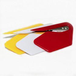 3 pcs/lot Coloré Mini En Plastique Durable Lettre Ouvre Couteau Papier Courrier Enveloppe Coupe Matériel de Bureau Fournitures Safty Lame 00806