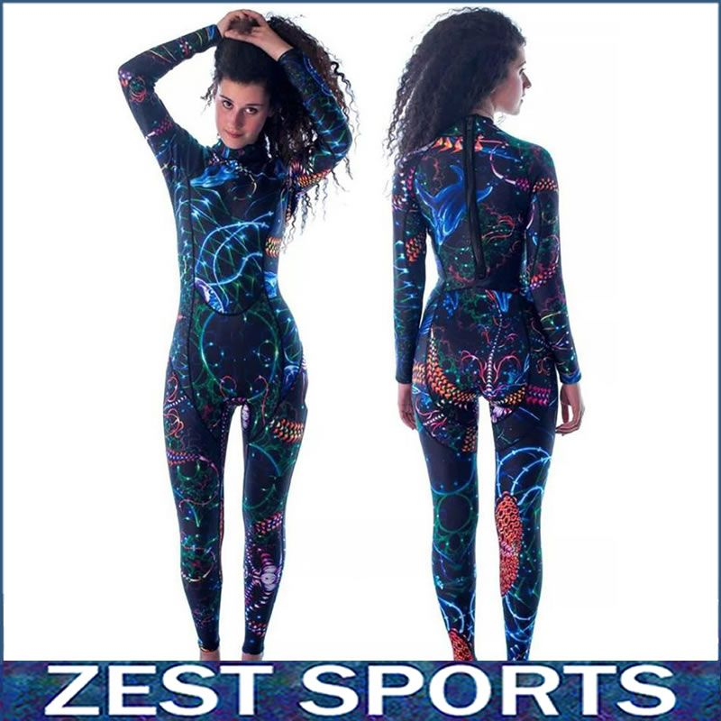 M002,High quality,3mm thick women long-sleeved printing wetsuit, Individuality surf clothing, fall and winter, Neoprene,swimsuit
