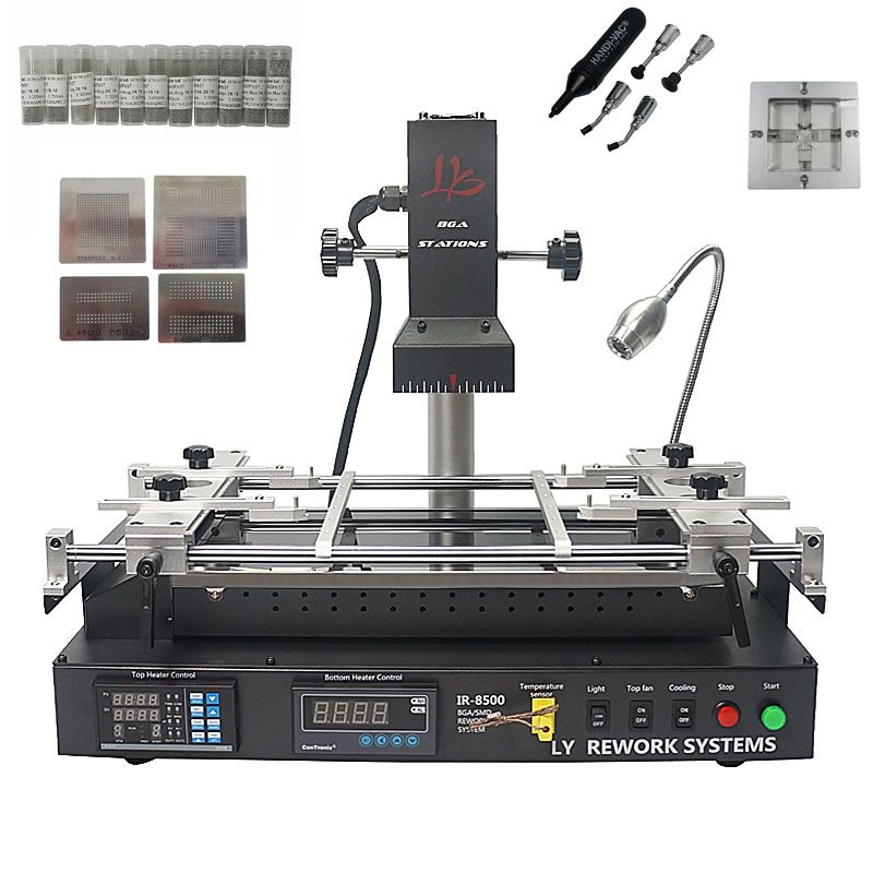 LY IR8500 infrared BGA Rework Station for laptop motherboard reparing, heating size IR8500 bigger heating size IR6500 with gift