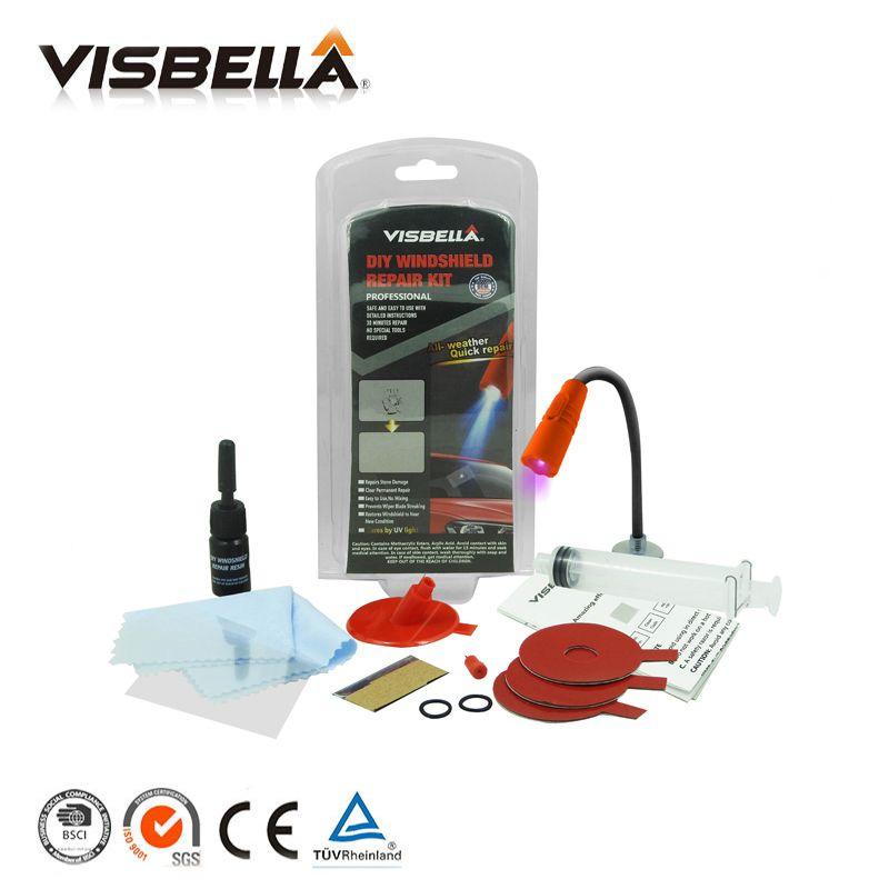 Visbella pare-brise kit de réparation De Voiture fenêtre réparation polissage Pare-Brise En Verre renouvellement Outil Auto Scratch Puce Fissure Restaurer fix DIY