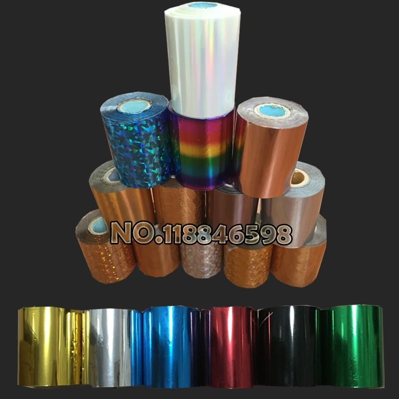 Free Ship DIY <font><b>Transfer</b></font> Hot Stamping Paper High Quality Hot Selling Hot Foil Stamping Colorful 80mmx120M Heat Stamping Foil Film