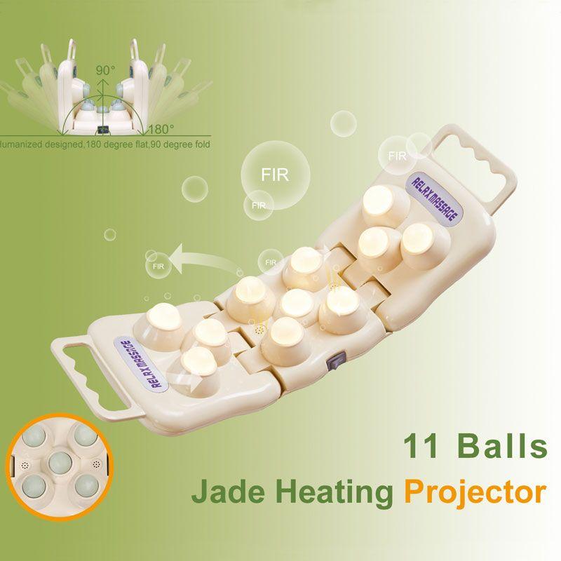 POP RELAX 11 balles réel jade rouleau masseur projecteur LED photon lumière infrarouge genou soulagement de la douleur dispositif de thérapie chauffage du corps
