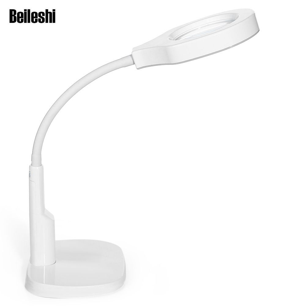 Beileshi Detachable 5X / 12X Magnifier with Light Desk Magnifier Lamp Illuminated Magnifier For Archaeology Prospecting Reading