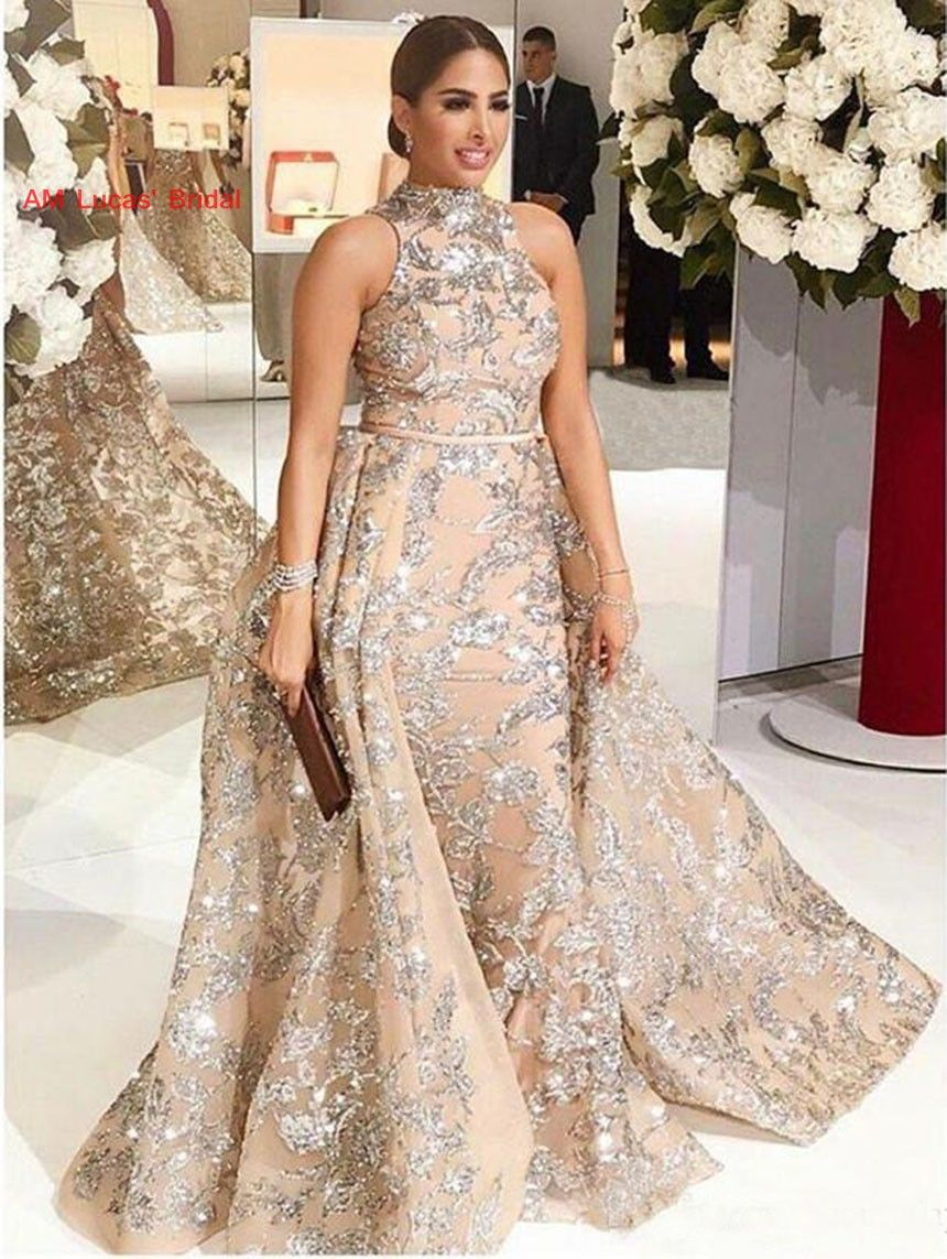 Sexy Long Mermaid Evening Dresses Two Pieces 2019 New Formal Party Gowns Vestido De Festa