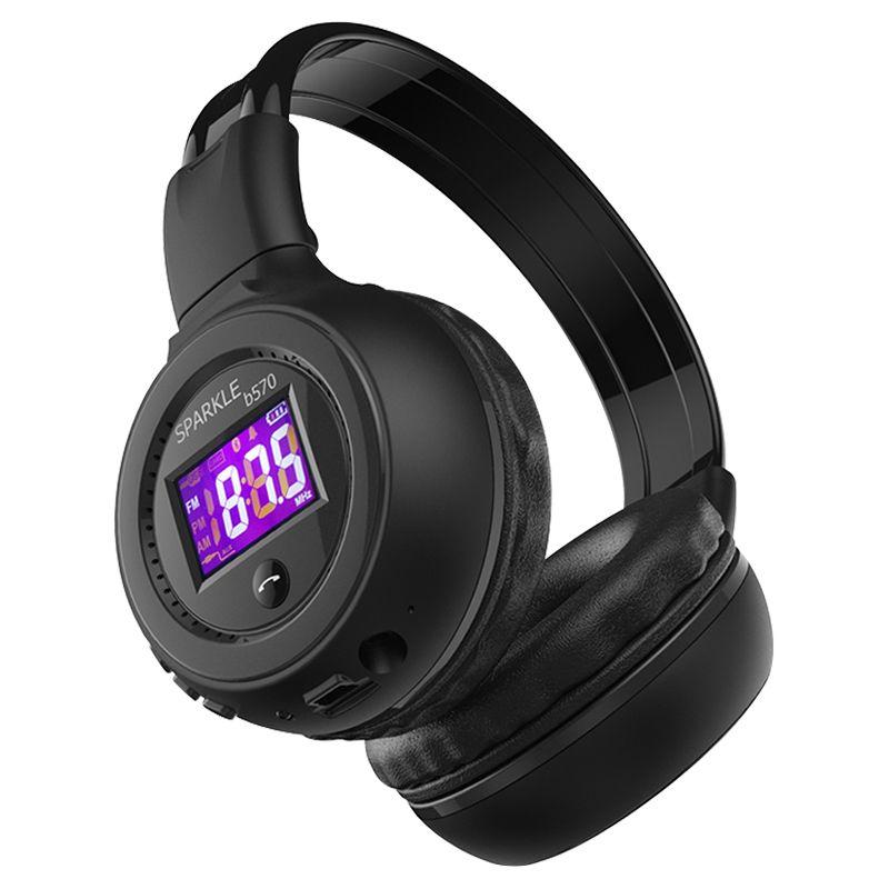 Zélot B570 HiFi stéréo Bluetooth casque sans fil casque avec Microphone FM Radio Micro SD carte Play