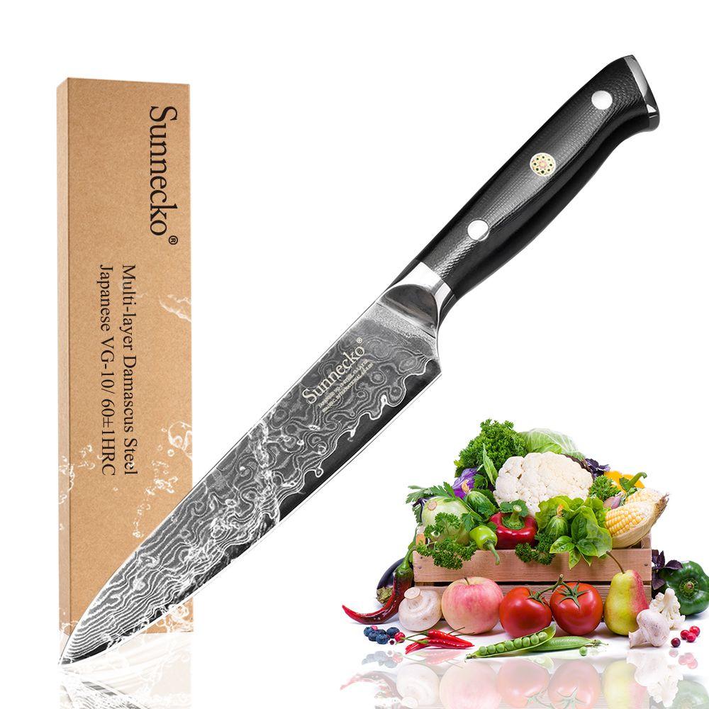 Couteau de cuisine utilitaire supérieur SUNNECKO 5