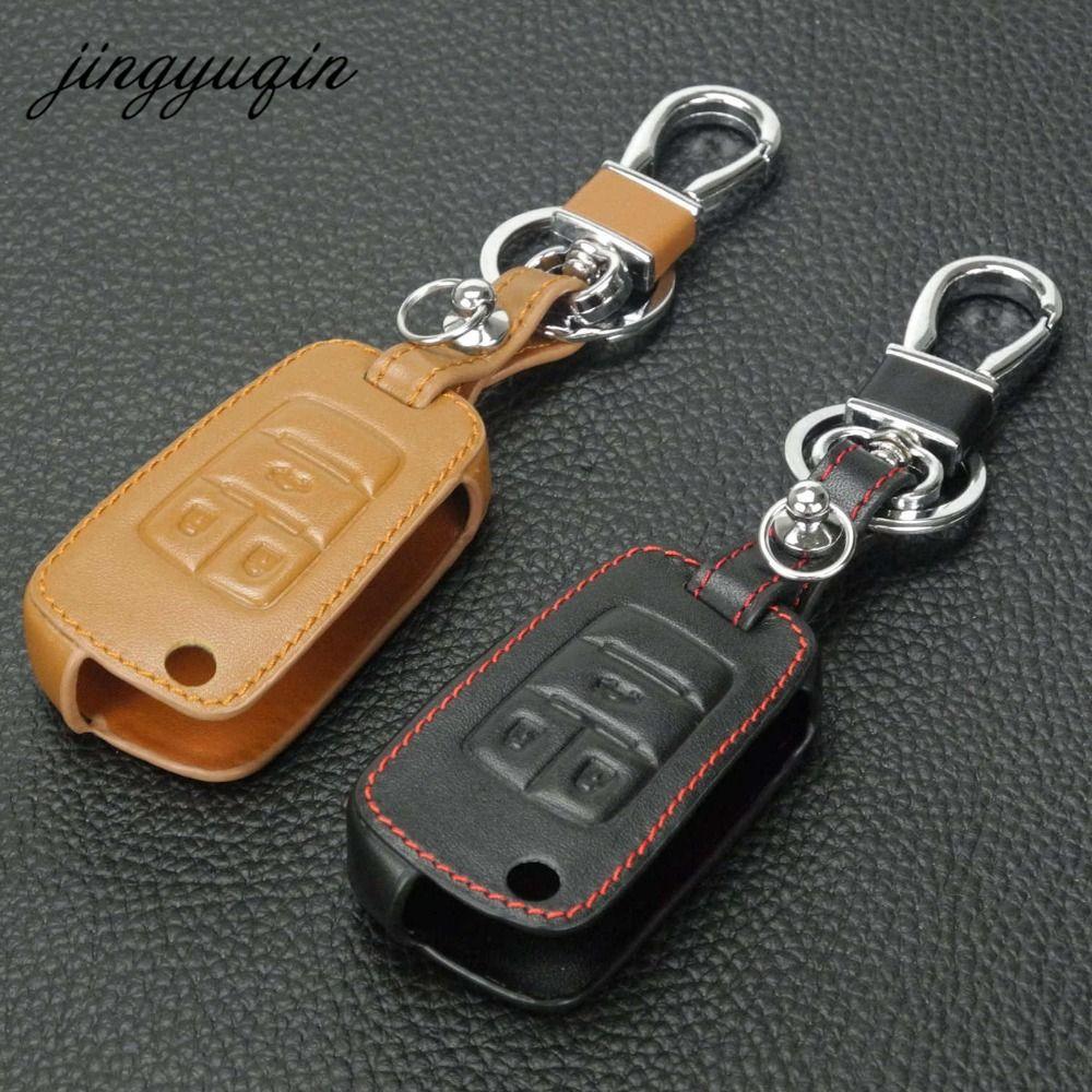 Jingyuqin Leder Flip Schlüssel Abdeckung Für Chevrolet Cruze Aveo für Buick VAUXHALL OPEL Insignia Astra J Zafira C Remote Auto 3BTN Fall