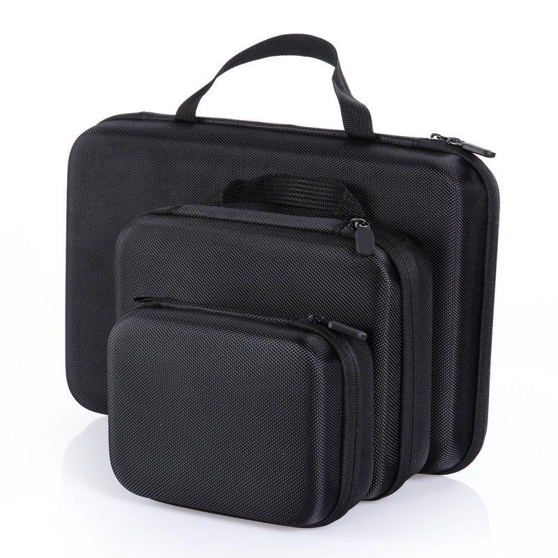 Portable Caméra Cas Accessoires Moyen Taille Eva Sac Dur Box pour GoPro Hero HD 4 3 + 3 2 L3FE