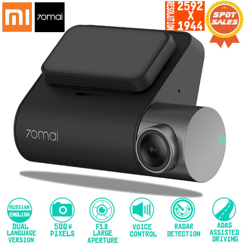 Xiaomi 70mai Dash Cam Pro Smart Car 1944P HD Video Recording With GPS ADAS WIFI Function 140 FOV Camera English Voice Control