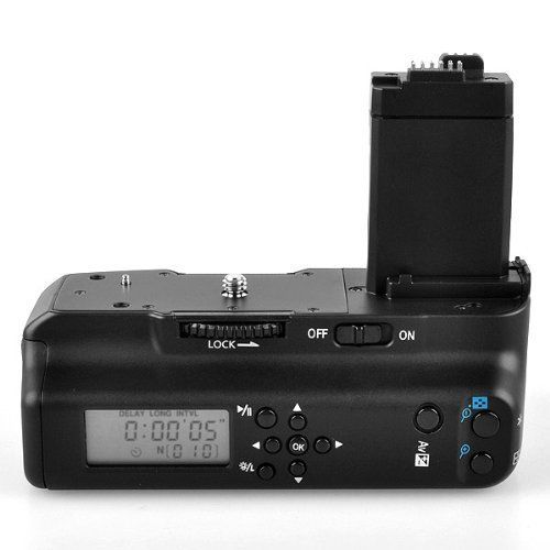 Meike MK-550DL Minuterie LCD Batterie Grip pour Canon EOS 550D 600D 650D 700D/Rebel T2i T3i T4i T5i Numérique appareil Photo REFLEX