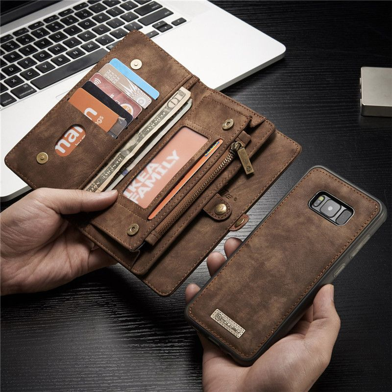 Luxury Brand For Samsung Galaxy S8 S7 Case Genuine Leather Flip Cover For Samsung S 8 Plus S 7 Edge Magnetic Wallet Phone Bags