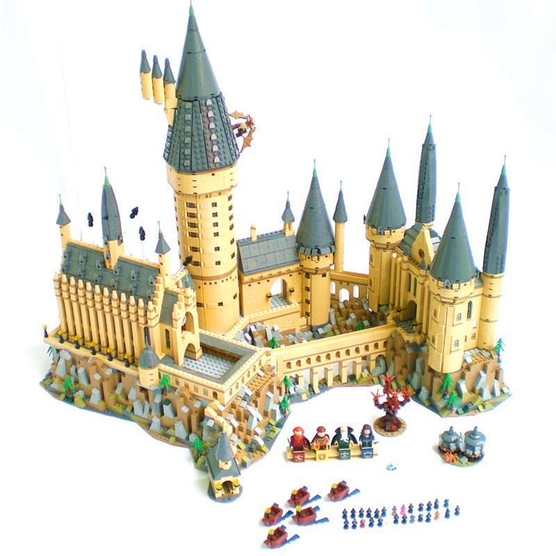 New Harry Magic Hogwarts Castle fit legoings harry potter castle city Building Blocks Bricks Kid 71043 diy Educational Toys Gift